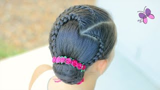 Braided Heart and Bun