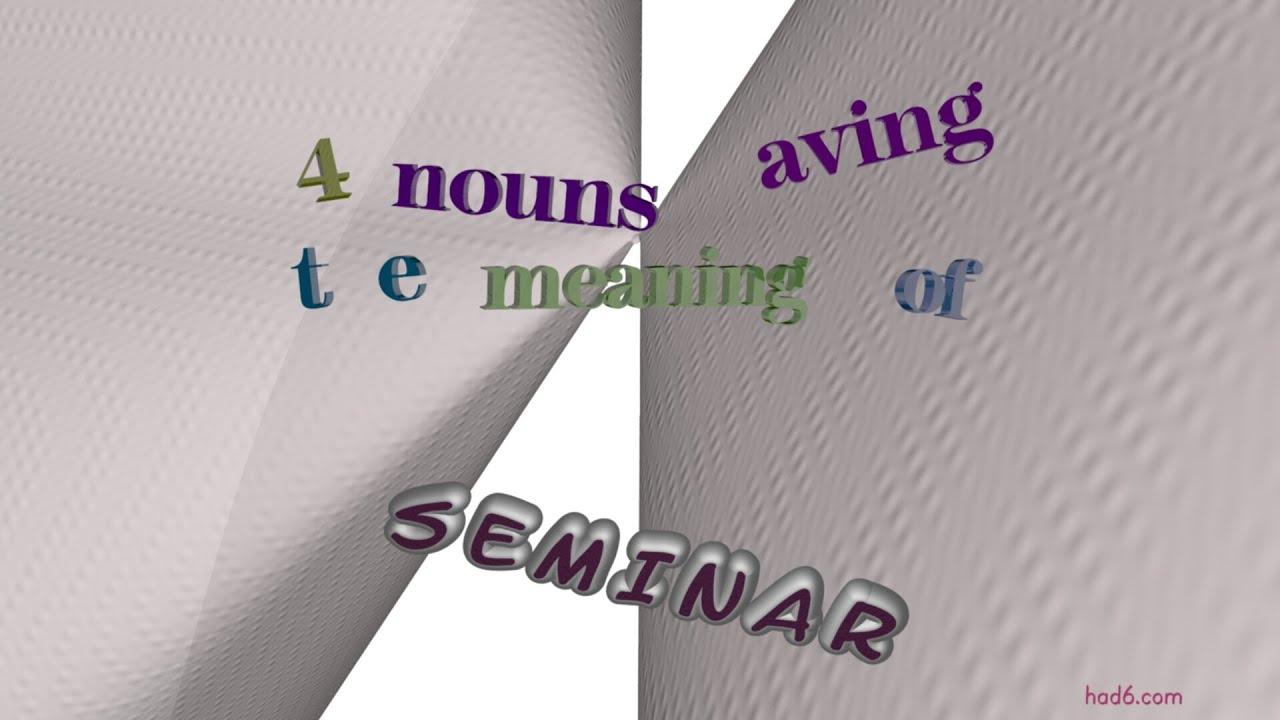 Synonym Seminar