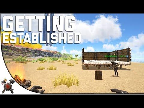 FIRST BASE! - Ark Survival Evolved PVP Server (Season 4 Part 2)
