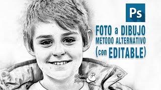 Tutorial Photoshop foto a dibujo // metodo alternativo by @ildefonsosegura