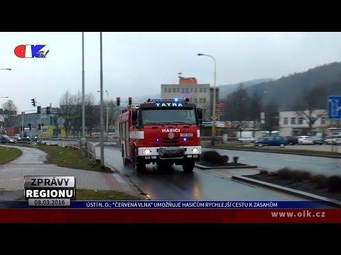 """Ústí nad Orlicí: """"Červená vlna"""" umožňuje hasičům rychlejší cestu k zásahům"""