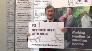 David Amess, MP supports Turn2us Fuel Poverty campaign