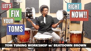 TUNE YOUR TOMS QUICK & EASY!! - TOM TUNING WORKSHOP