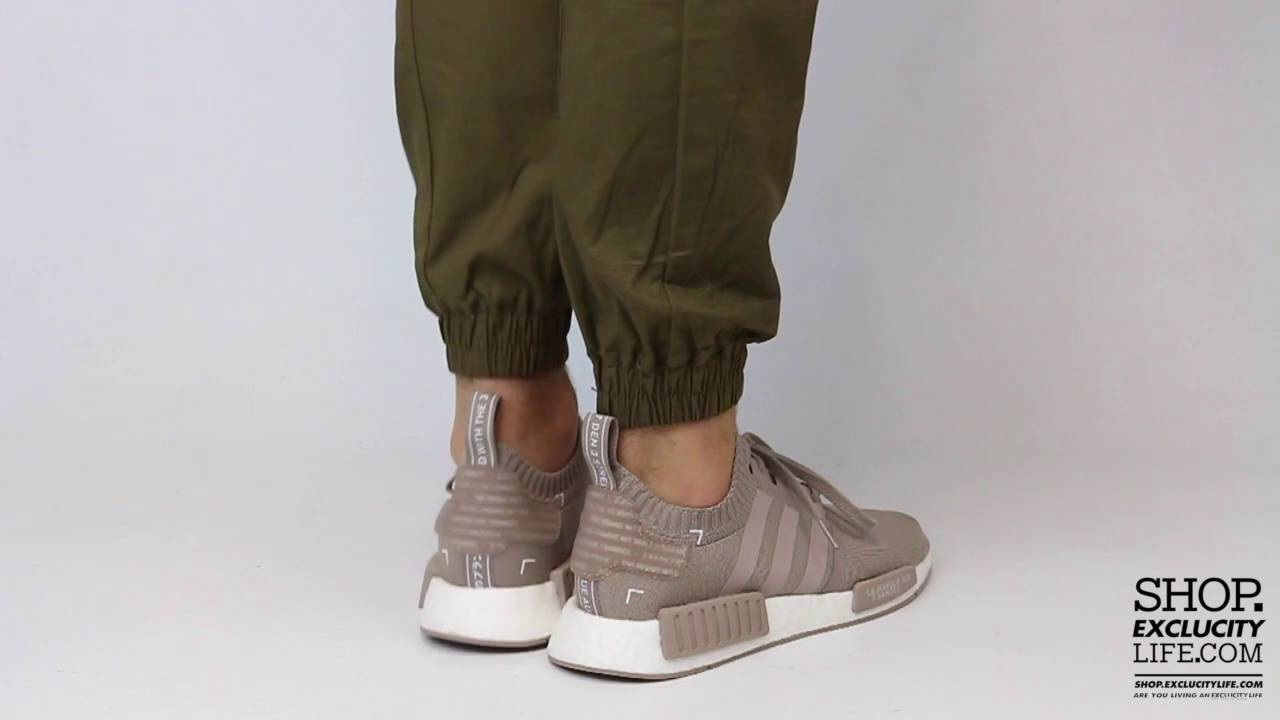 9bdbfa7c0 Adidas NMD Primeknit French Beige On feet Video at Exclucity - YouTube