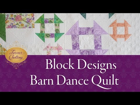How to Continuously quilt the Churn Dash blocks - Barn Dance quilt - Part 3