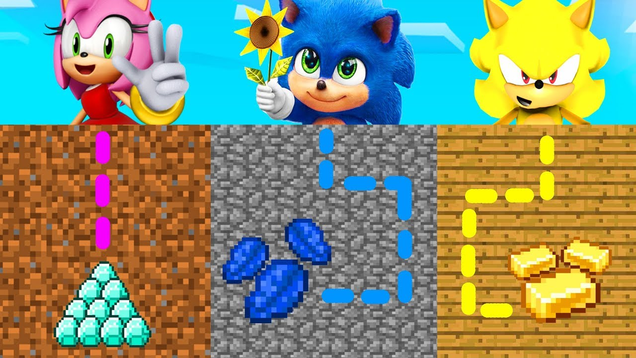 Minecraft PE  DO NOT CHOOSE THE WRONG MAZE Baby Sonic, Super Sonic & Amy  Rose