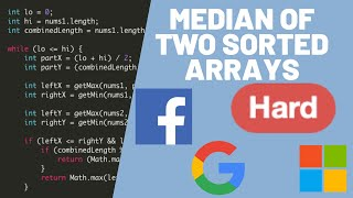 LeetCode Explained - Median of Two Sorted Arrays [HARD]