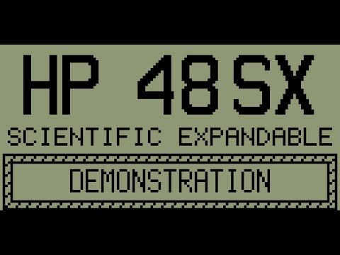 HP 48SX Calculator Demonstration Card