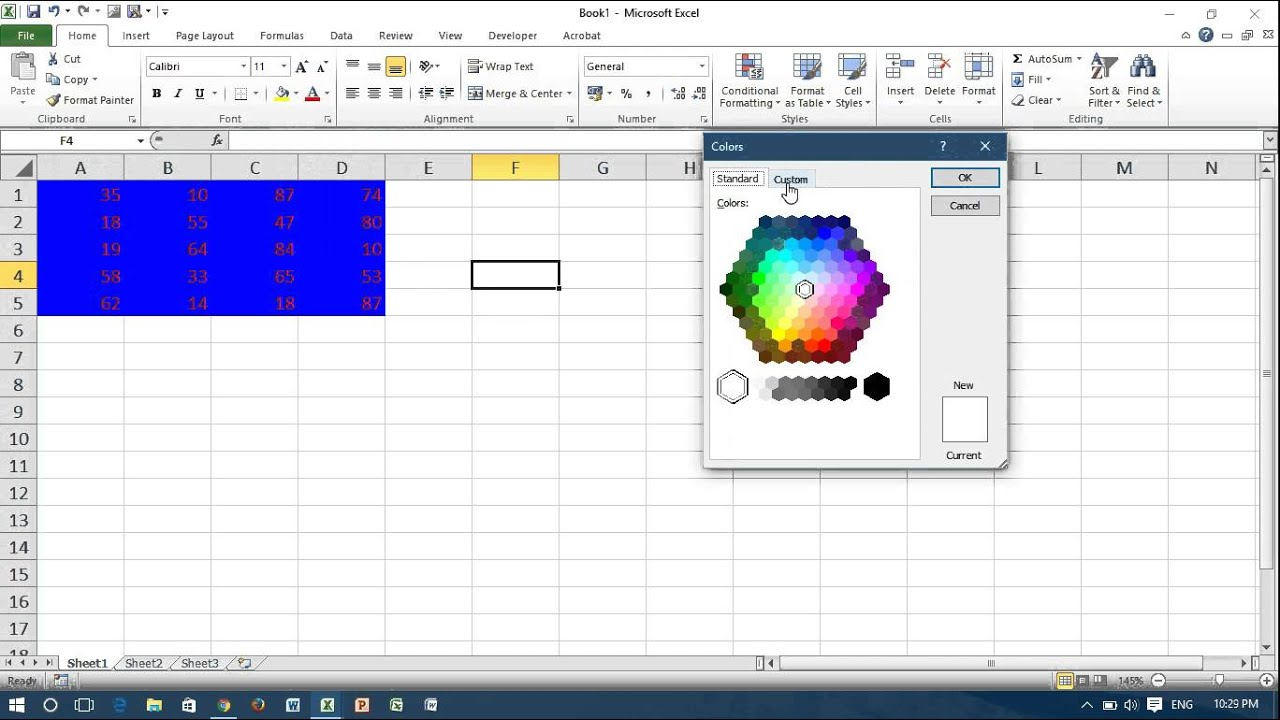 Excel VBA Change Font And Background Color Of Cells