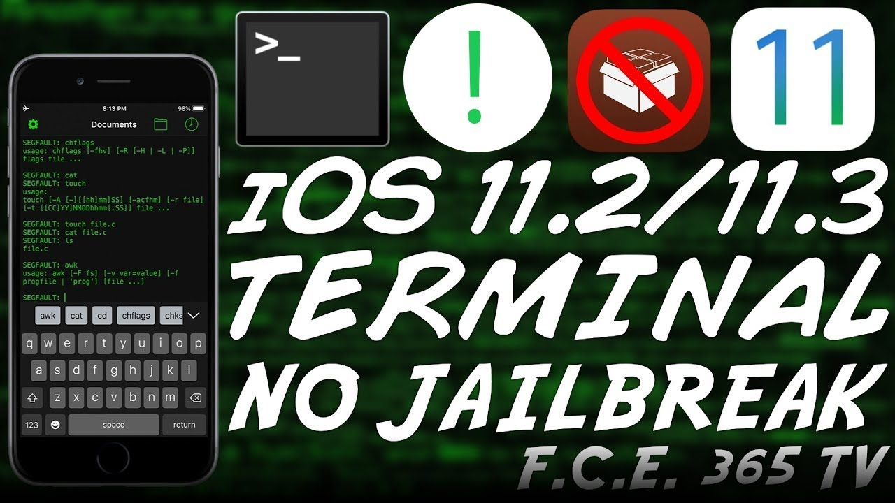 iOS 11 2/11 3 How to Install a Legit TERMINAL Without JAILBREAK