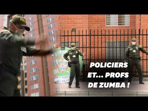 En Colombie, la police donne des cours de Zumba pour les confinés