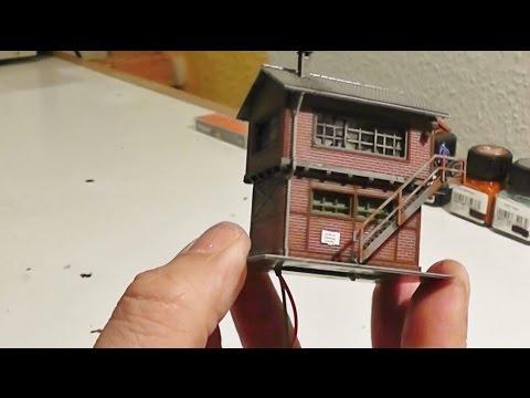 modellbahn spur n 1 160 aufbau stellwerk inkl led beleuchtung miniatur modelleisenbahn youtube. Black Bedroom Furniture Sets. Home Design Ideas