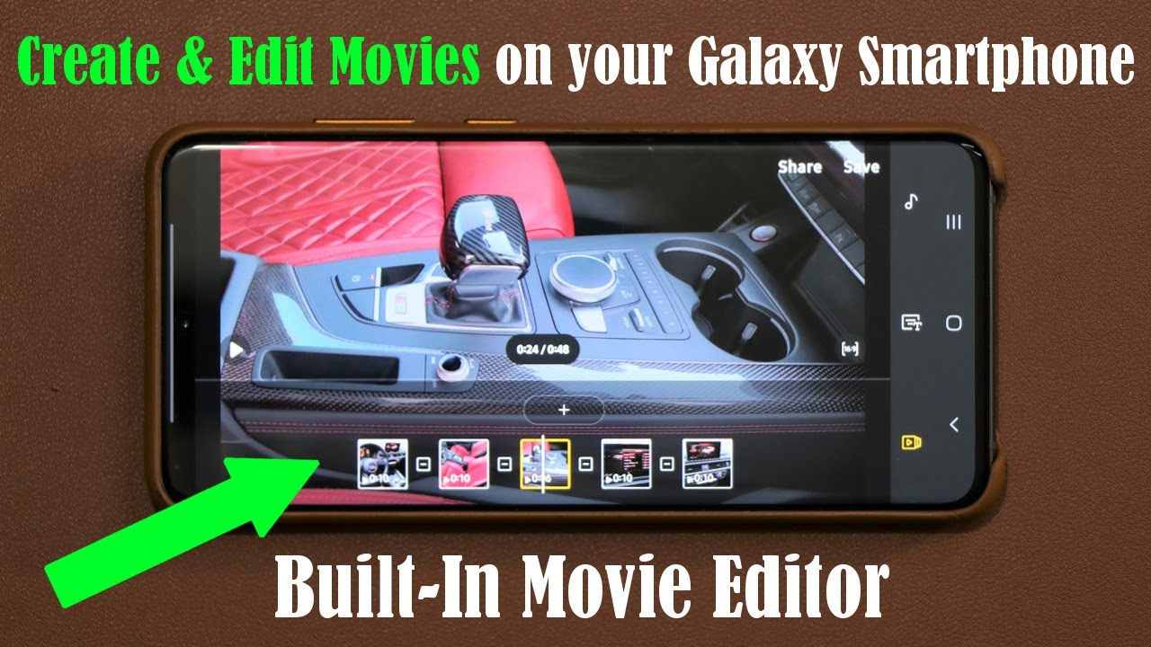 The Hidden Video Editor App on your Samsung Galaxy Smartphone (S21, S20,  Note 10, S10, and more) - YouTube