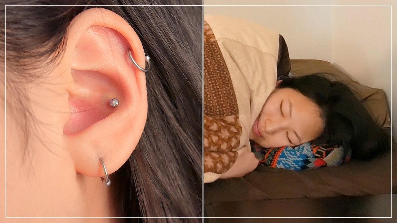 How To Sleep Comfortably With A New Piercing Youtube