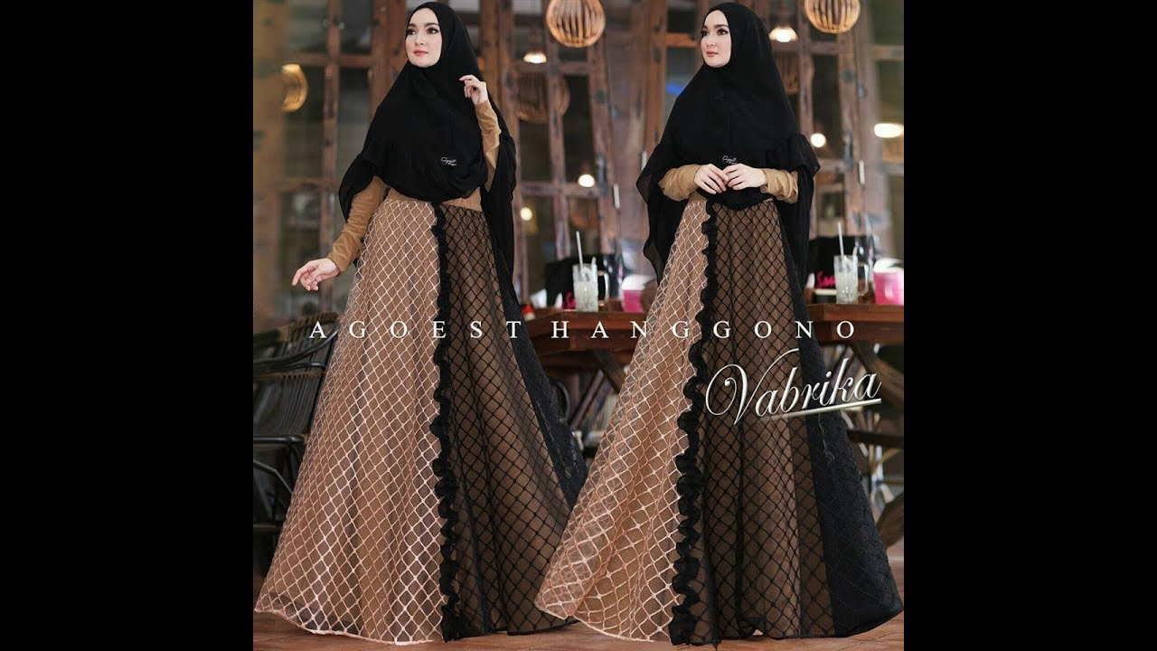 Model Gamis Pesta Syari Terbaru Elegant Baju Muslim Syari Lebaran