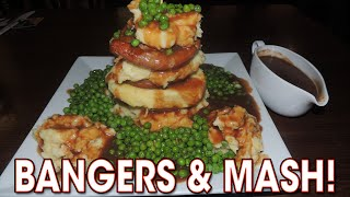 Massive British Bangers & Mash 3kg Eating Challenge | Randy Santel