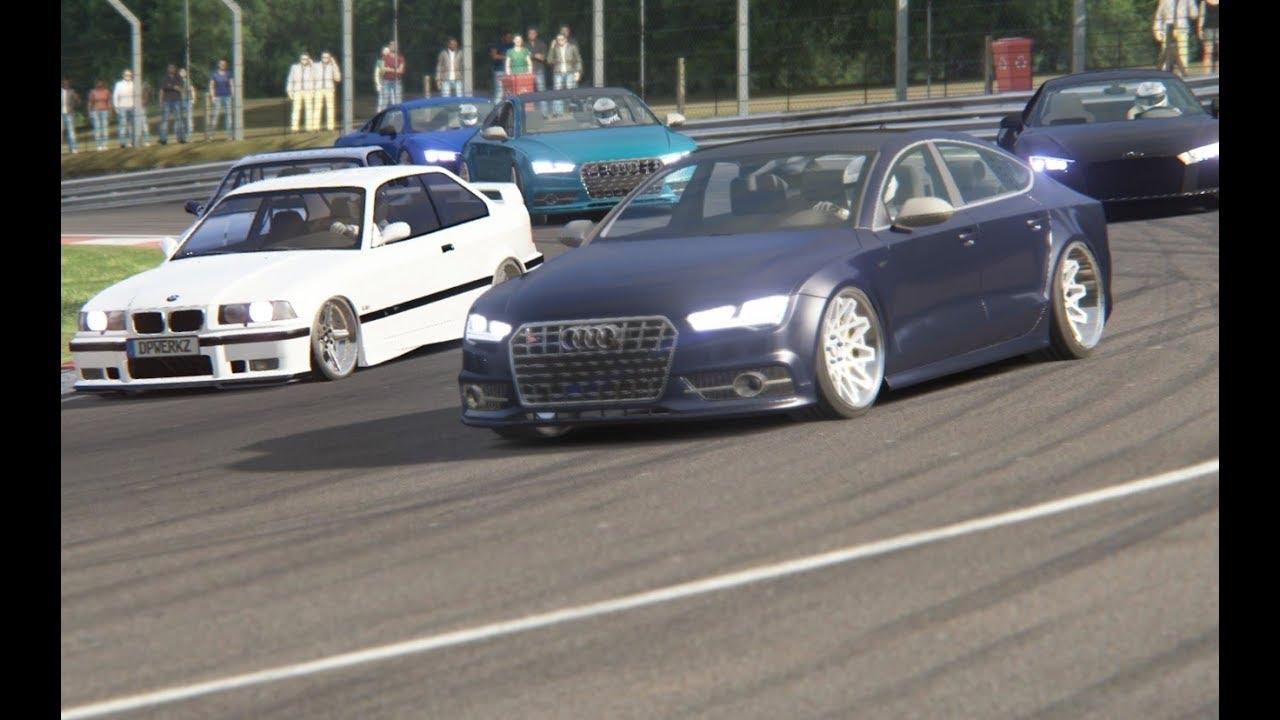 Track Day Audi S7 Sportback Sport Back Vs R8 V10 Tt Rs Clubsport Bmw M3 E36