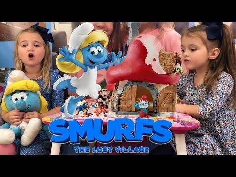 Smurfs The Lost Village Toys Schleich Giant Blue Presents Smurfette