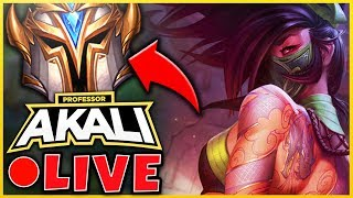 PROFESSOR AKALI - 80% WINRATE! #1 AKALI WORLD - RANK 1 INCOMING - UNLOCK YOUR HIDDEN POWERS!