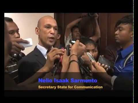 Secretary State for Social Communication, Nelio Isaak Sarmento