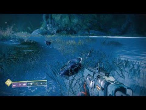 Destiny 2_20190720 По болотной воде прыгает , на эл.шоке ,остаток корпуса дрона .