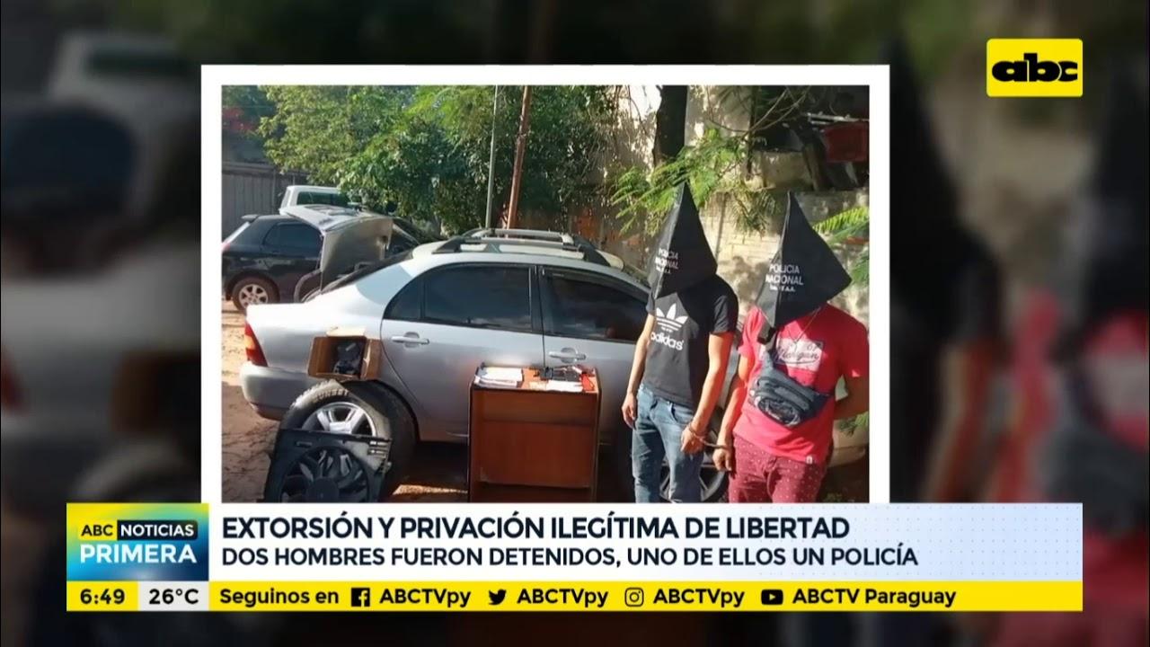 Otoño Saga Sabroso  Un policía y otro hombre, detenidos por extorsión y privación ilegítima de  libertad - YouTube