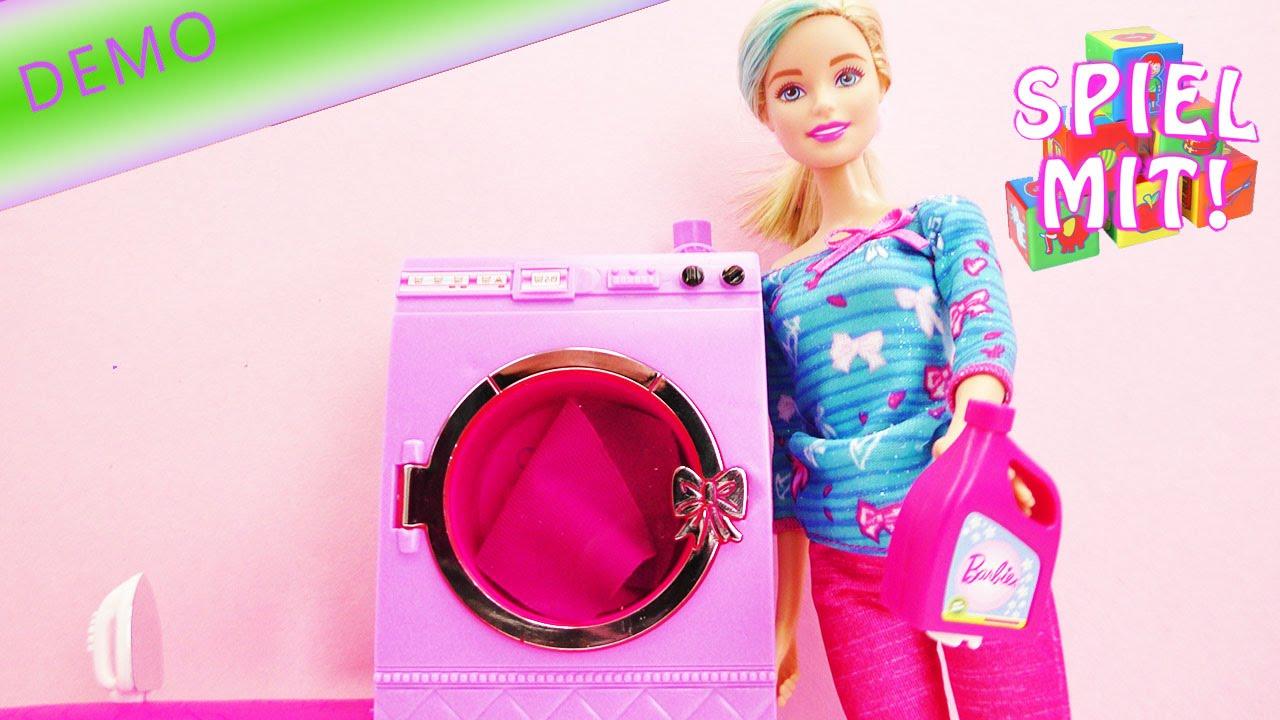 barbie waschk che waschmaschine trockner und b geleisen. Black Bedroom Furniture Sets. Home Design Ideas
