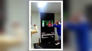 Fanático destruye su TV por el mundial