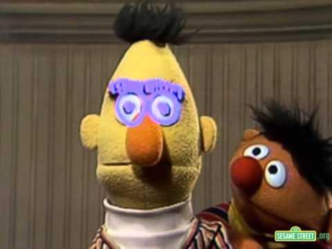 Sesame Street Ernie Traces Bert's Face - YouTube  Sesame