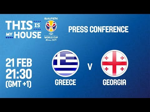 Greece v Georgia - Press Conference - FIBA Basketball World Cup 2019 European Qualifiers