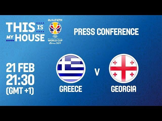 Greece v Georgia - Press Conference - FIBA Basketball World Cup 2019 European Qualifiers