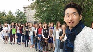 Радушный прием корейских парней в России (Я хочу жить в России)