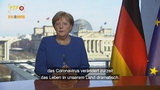 TV-Ansprache Kanzlerin Merkel zu Coronavirus