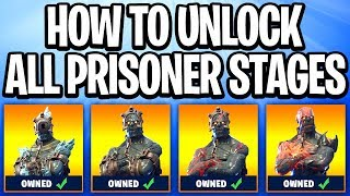 ALL PRISONER SKIN STAGES + HOW TO UNLOCK! (Fortnite Prisoner Skin Stages UNLOCKED)