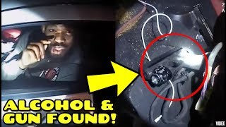 NEW POLICE Footage of Jon Jones DWI Arrest shows weapon & alcohol found in Car
