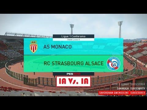 Monaco - Strasbourg [PES 2018] | Ligue 1 Conforama 2017-2018 (6ème Journée) | IA Vs. IA