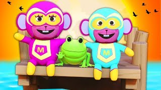 Down By The Bay | SUPERHERO FAMILY | Nursery Rhymes For Children | Kids Songs | All Babies Channel