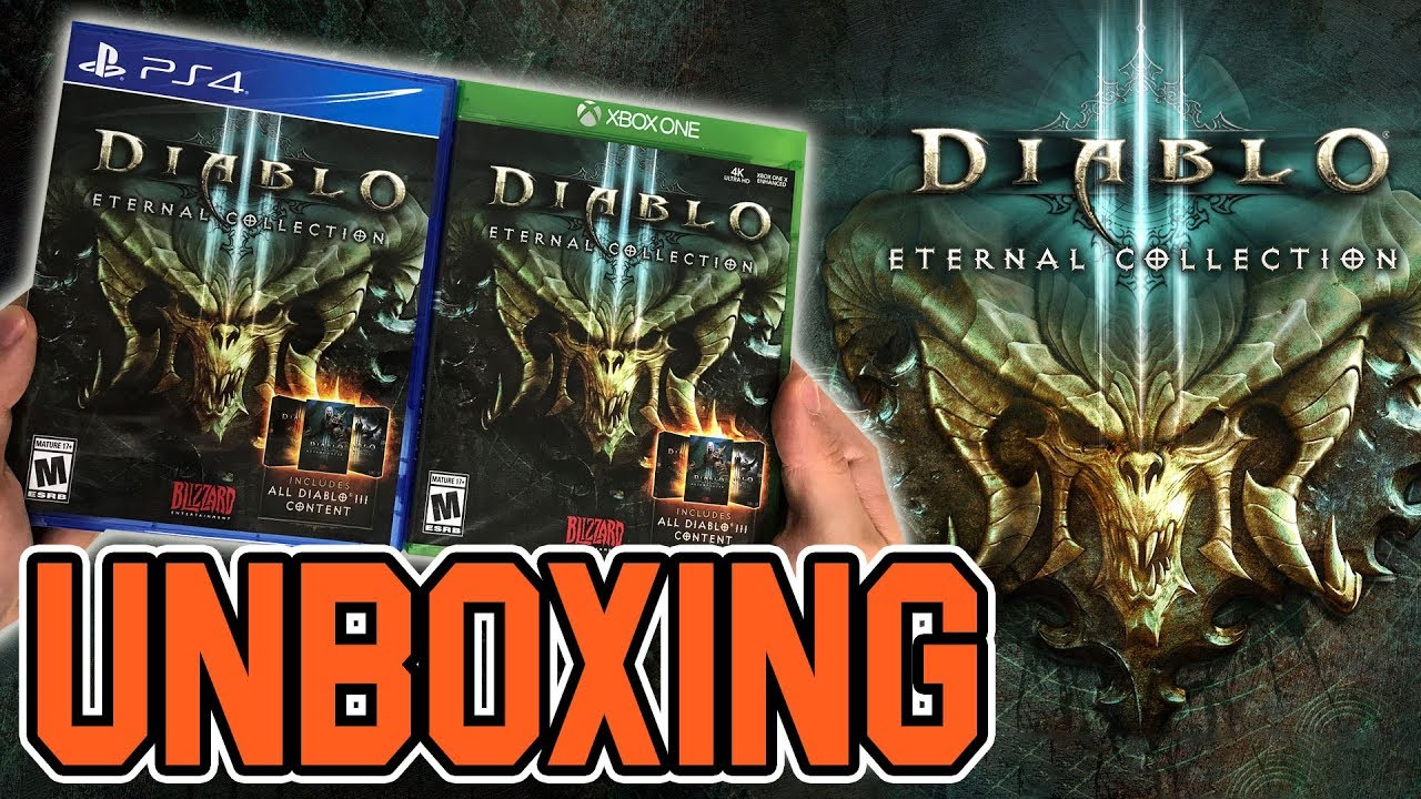 Diablo III Eternal Collection (Xbox One/PS4) Unboxing!!