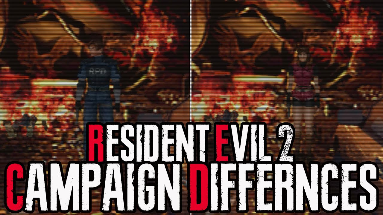 Resident Evil 2 Campaign Differences Leon Claire Campaign