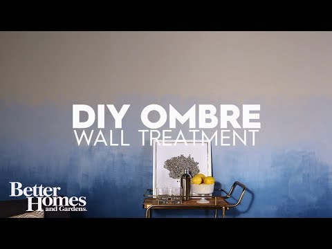 DIY Ombre Wall Treatment