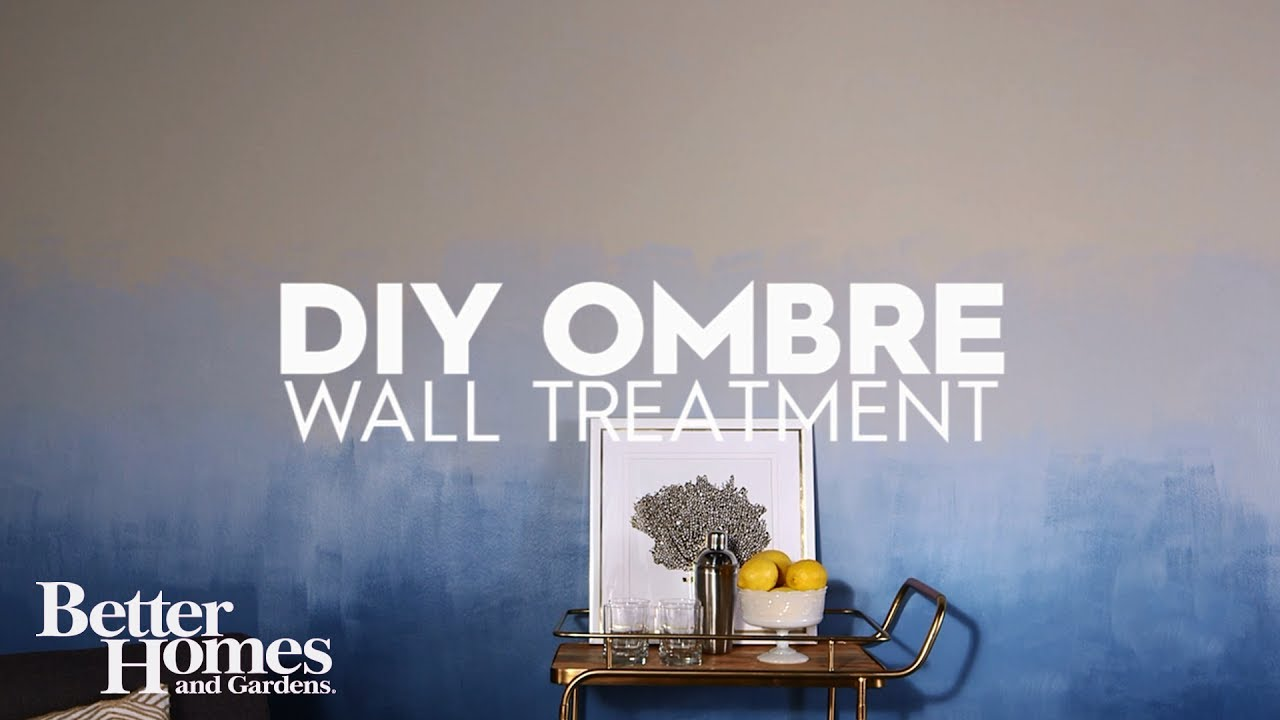 Diy ombre wall treatment youtube solutioingenieria Image collections