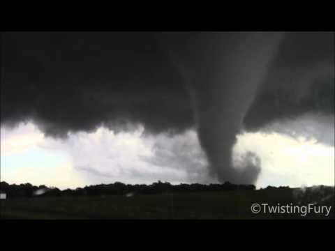 Violent Tornado East of Katie, OK (5/9/2016)