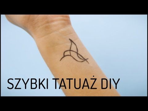 Szybki Tymczasowy Tatuaż Diy Domodi Tv Youtube