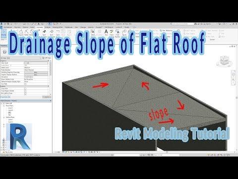 Revit - Adjust Drainage Slope Of Flat Roof