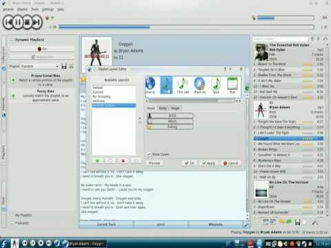 Amarok Playlist Layout Tutorial Screencast