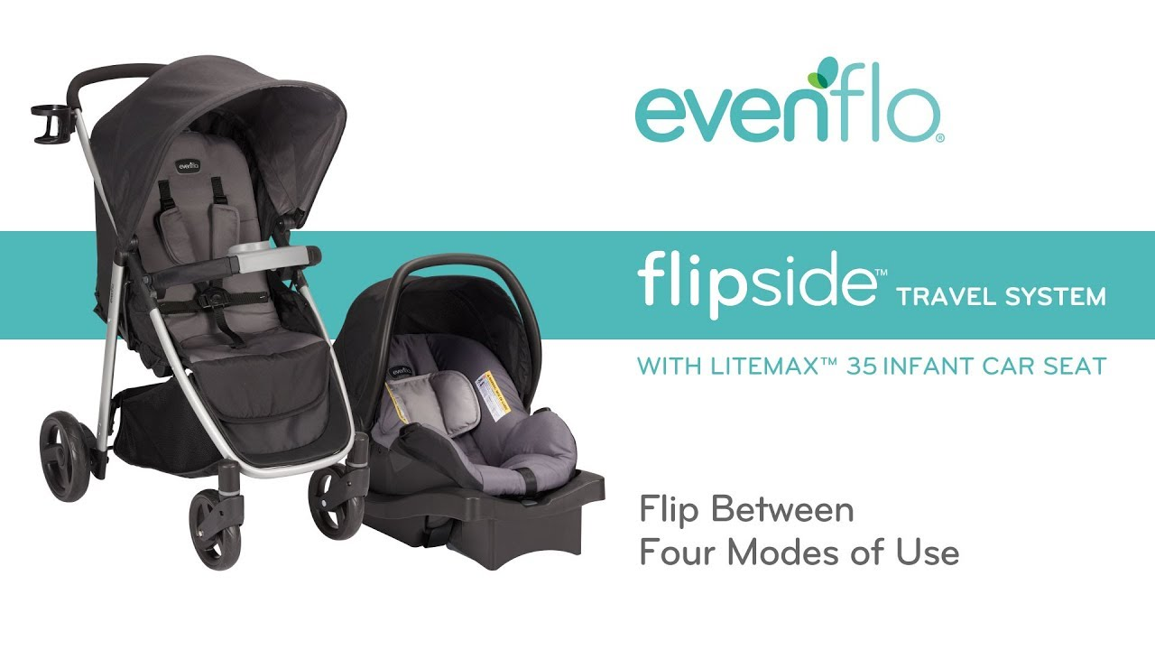 Evenflo FlipsideTM Travel System With LiteMaxTM Infant Car Seat
