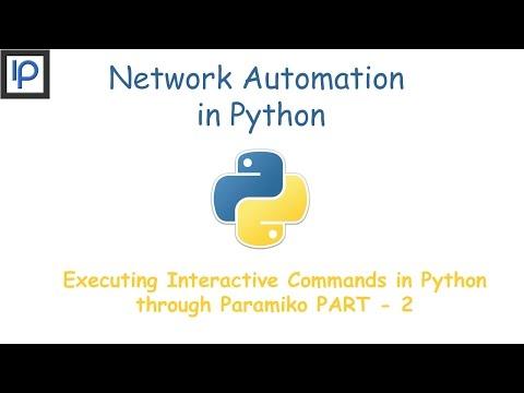 3: Executing Interactive Commands in Python through Paramiko Part-2