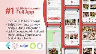 Multi Restaurants Flutter + PHP Laravel Admin Panel | Codecanyon Scripts and Snippets