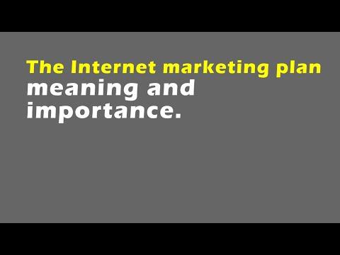 The internet marketing plan
