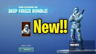 New Fortnite DEEP FREEZE BUNDLE!